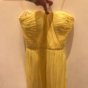 Yellow Cinderella Strapless Dress